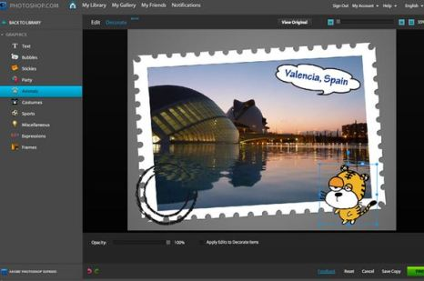 Photoshop Express - online photo editing