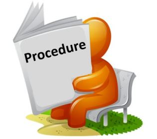 Procedure for data entry work