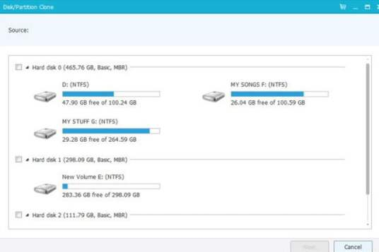 Disk Partition Clone