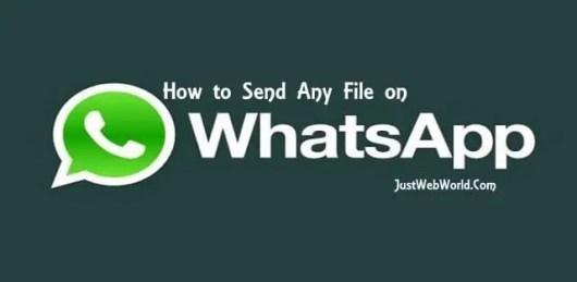Send Any File on Whatsapp