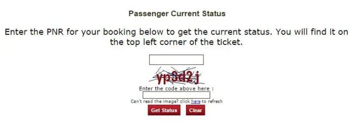 train pnr status