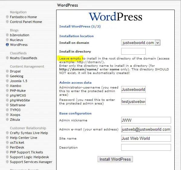 WordPress-Installation-HostGator