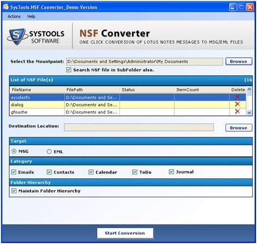 NFS-Converer - Lotus Notes to Mozilla Thunderbird