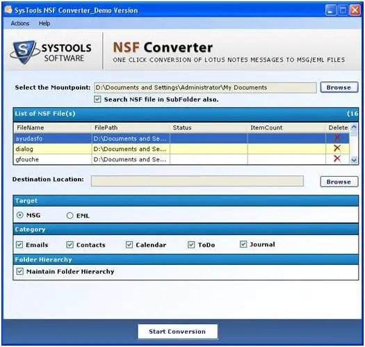 NFS-Converer - Lotus Notes to Mozilla Thunderbird