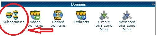 Create Sub Domain for your site