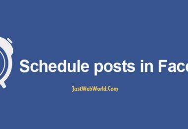 schedule aposts on facebook