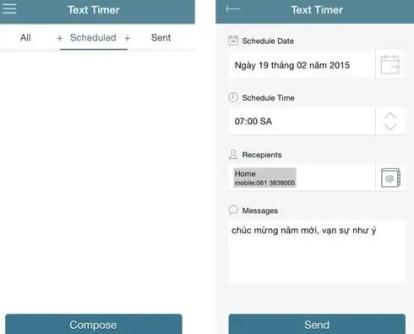 Text Timer