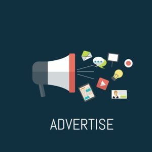 Advertise your website offline