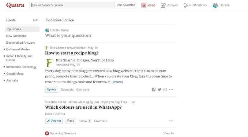 Quora: question-and-answer site