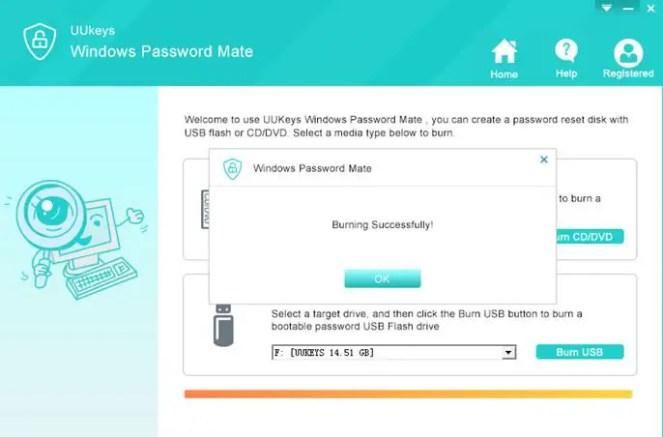 UUkeys Windows Password Mate - Reset Password