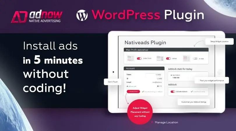 WordPress Plugin of Adnow