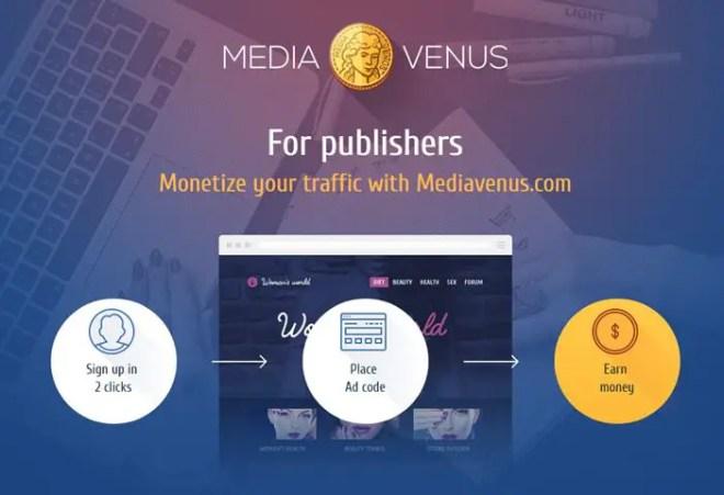 MediaVenus for Web Publishers
