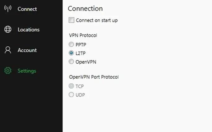 BulletVPN Secure Connection Protocols
