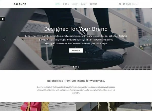 Balance - Minimalist WooCommerce WordPress Theme