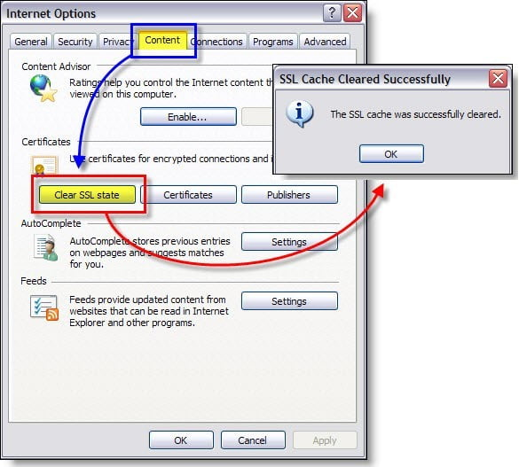 Clearing the SSL Certificate Cache