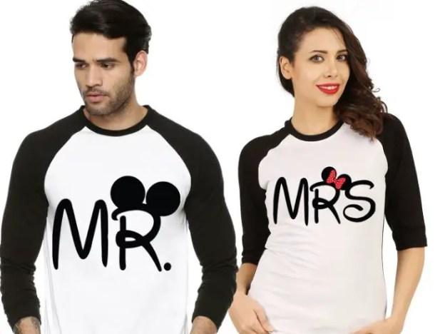 Matching Couple T-Shirts Birthday Surprise