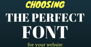 Choosing the Perfect Fonts for Your Website