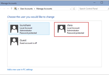 Enable or Disable User Accounts in Windows 10