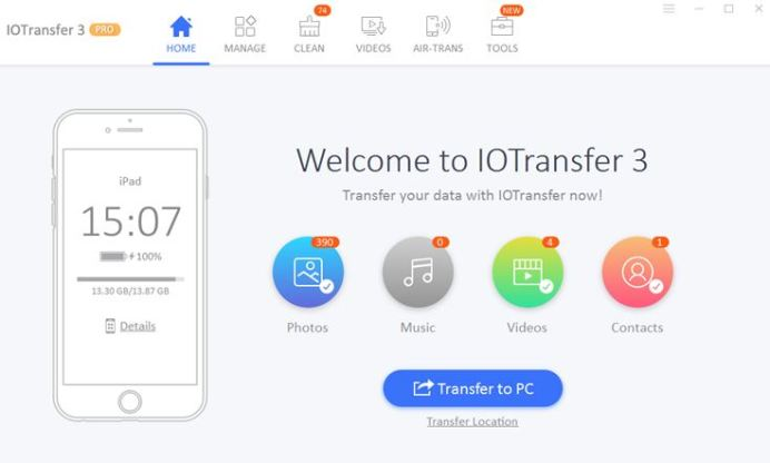 IOTransfer 3: Ultimate iPad Manager