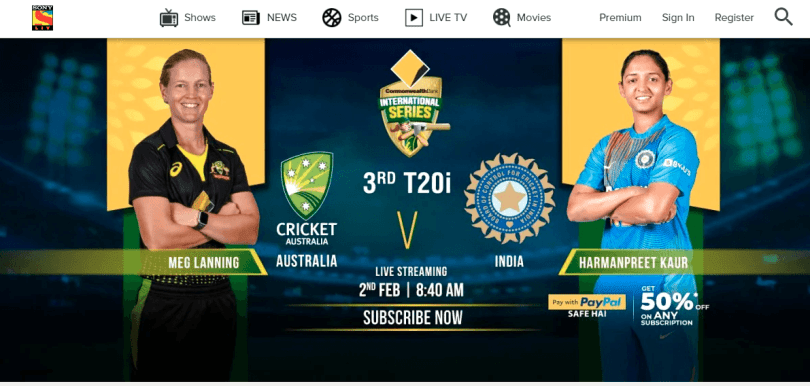 Sonyliv cricket live streaming