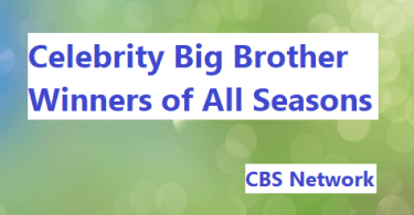 Celebrity Big Brother Winners List