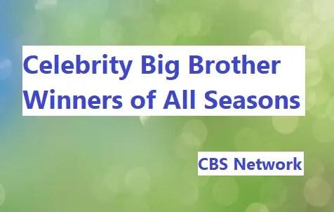 Celebrity Big Brother Winners List