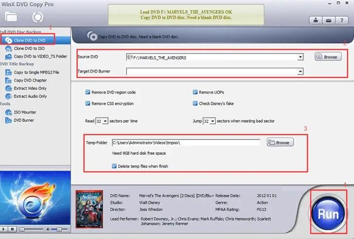 WinX DVD Copy Pro Software Guide