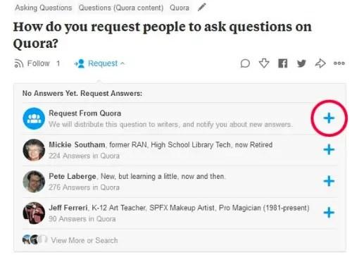 Quora asking