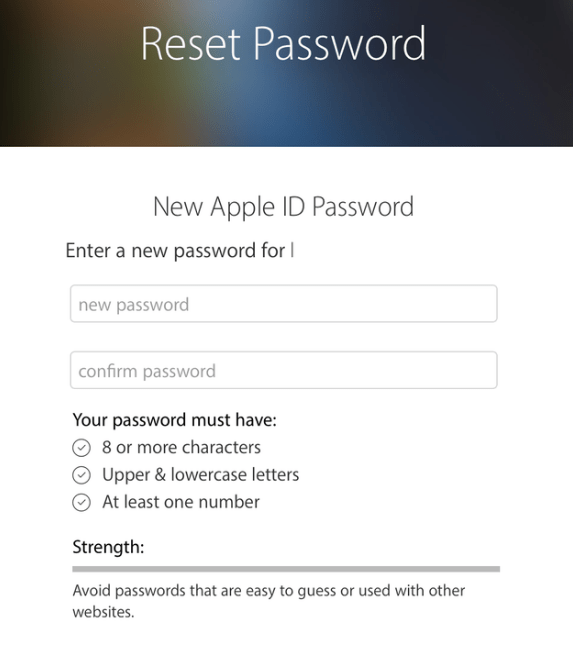 Reset Your Apple ID Password