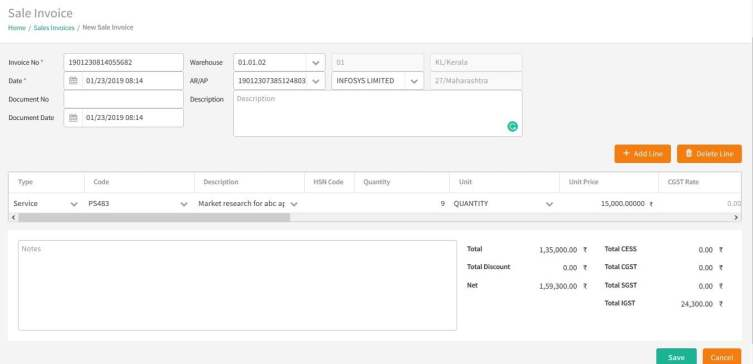 Automatic Invoicing functionality