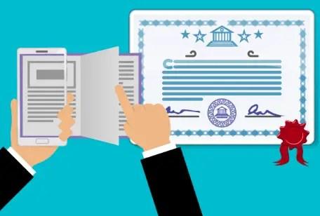 Online certification program