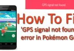 Pokémon Go GPS Signal Not Found