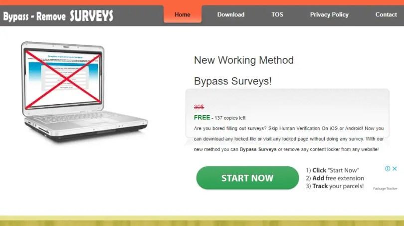 Survey remover