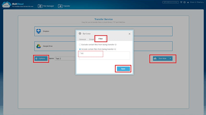 Easy Transfer Between Multiple Cloud Drives