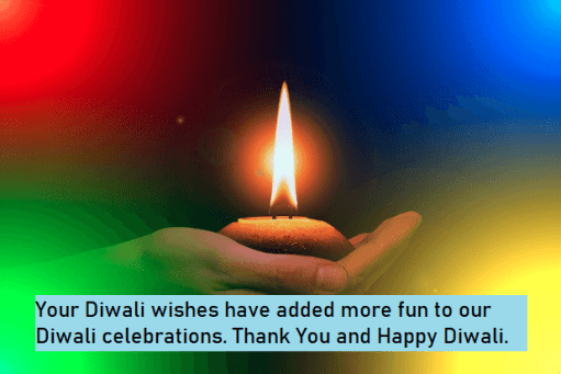 Diwali Wishes Reply Messages