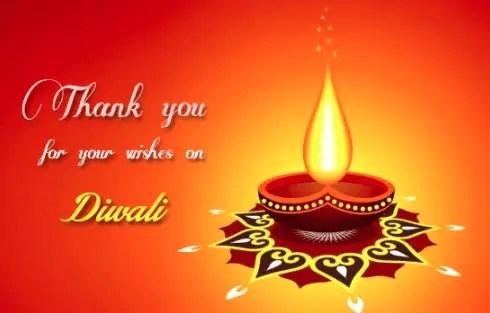 Happy Diwali Wishes - Thank You
