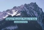India's highest peaks