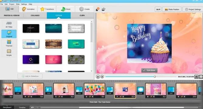 Birthday slideshow to showcase
