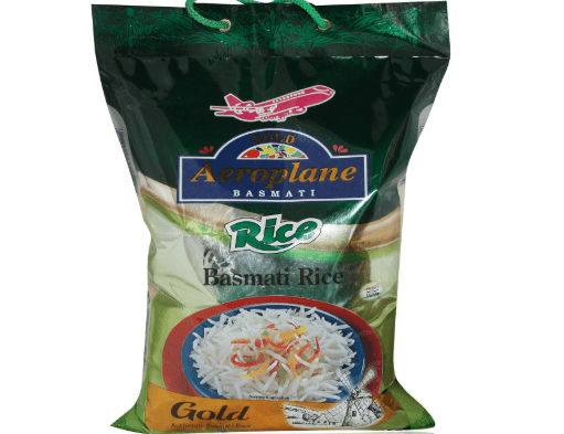 AEROPLANE Gold Basmati Rice Pouch