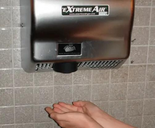Hand drying facilities