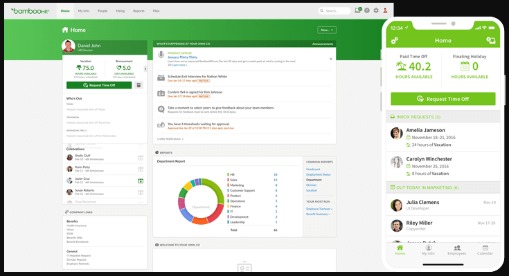 BambooHR Software