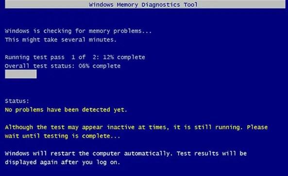 Windows Memory Diagnostics utility