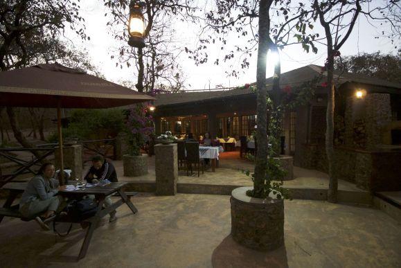 het restaurant bij de lodge
