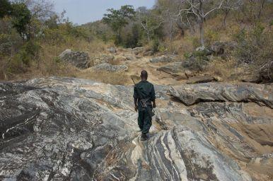 De geweldige ranger leidde ons in een leuke klauterpartij langs allerlei rotsen