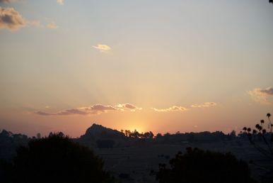 Deze keer uitkijk op zonsondergang i.p.v. zonsopgang