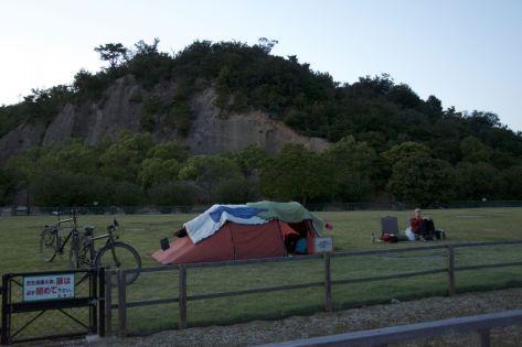 Okunoshima camping ground op konijneneiland is aan de prijs voor een camping zonder douche, maar ja dat krijg je met een leuke tourist-trap....