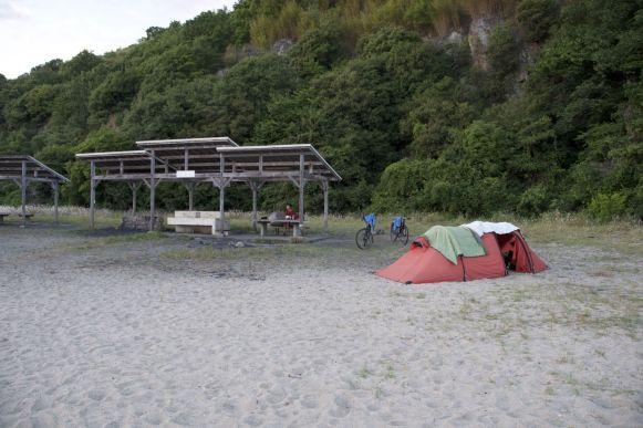 Fukodomari campsite was denk ik mijn favoriete gratis camping.