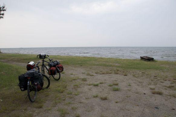 De dichte camping heeft een beter uitzicht dan onze uiteindelijke kampeerplek bij de michi no eki.