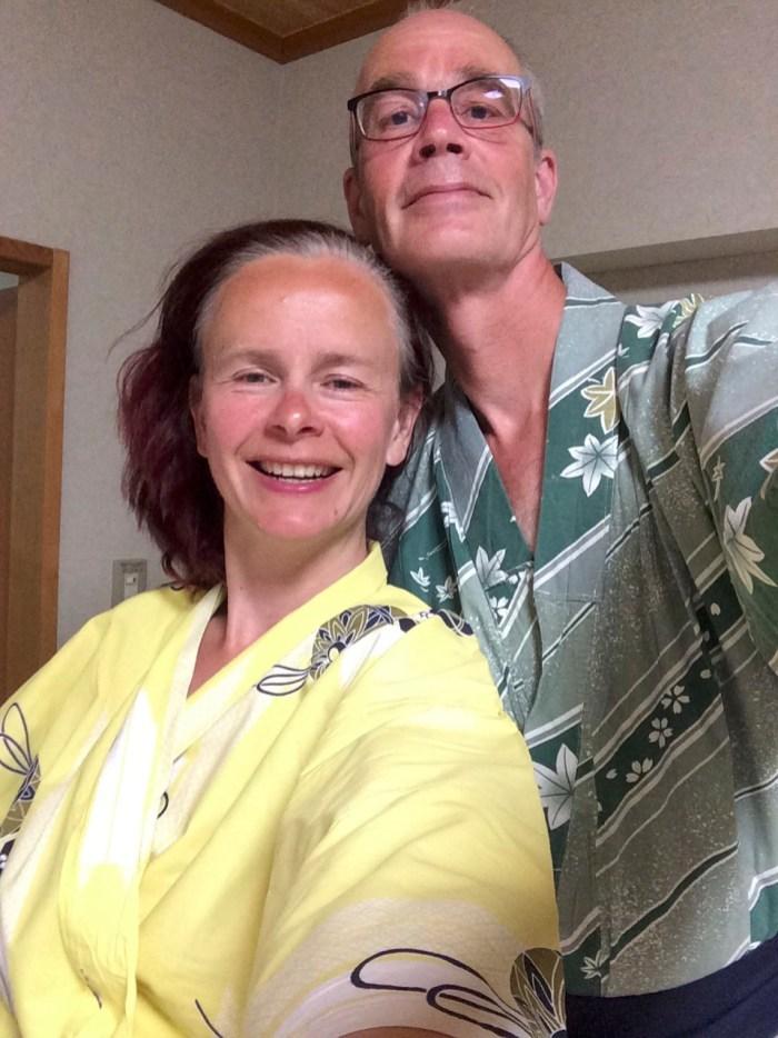 Lekker fout in onze yukata