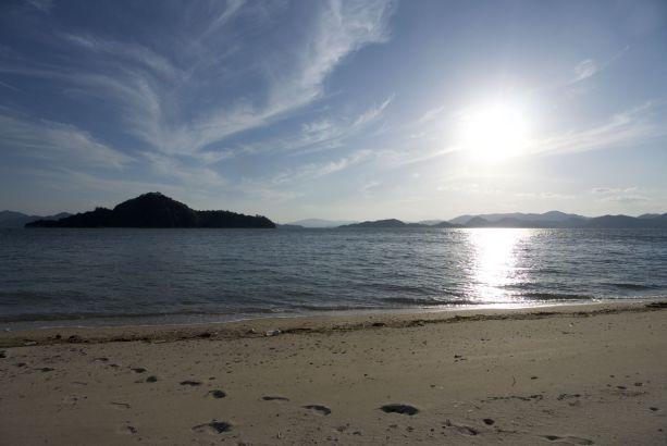 Mooi uitzicht tijdens ons rondritje op het eiland.